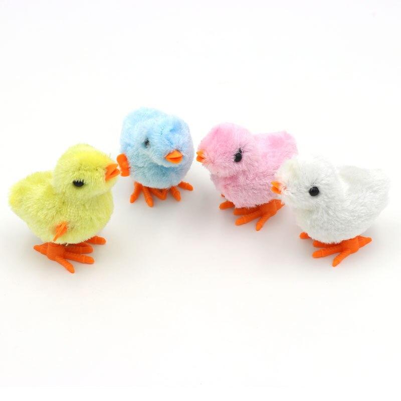 Neue Lustige küken uhrwerk spielzeug kette hühner stuffed chicken/springen/nette nostalgischen spielzeug uhrwerk küken kinder geschenk