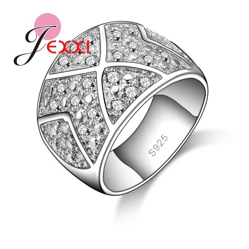 Hotsale 925 anillo de boda de plata esterlina de moda para mujer Anillos de Compromiso de diamantes de imitación joyería inoxidable envío gratis