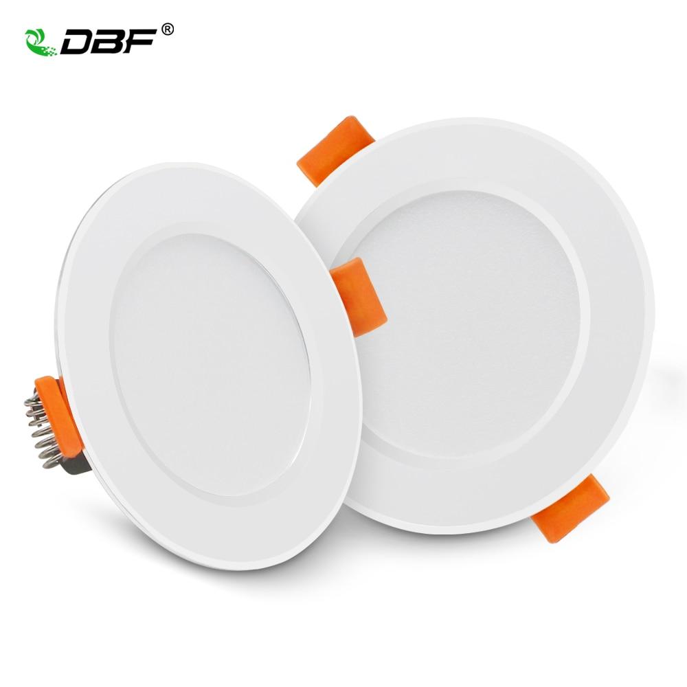 DBF-Luz descendente LED empotrada 2-en-1 SMD 2835 AC220V, sin conductor, disponible en...