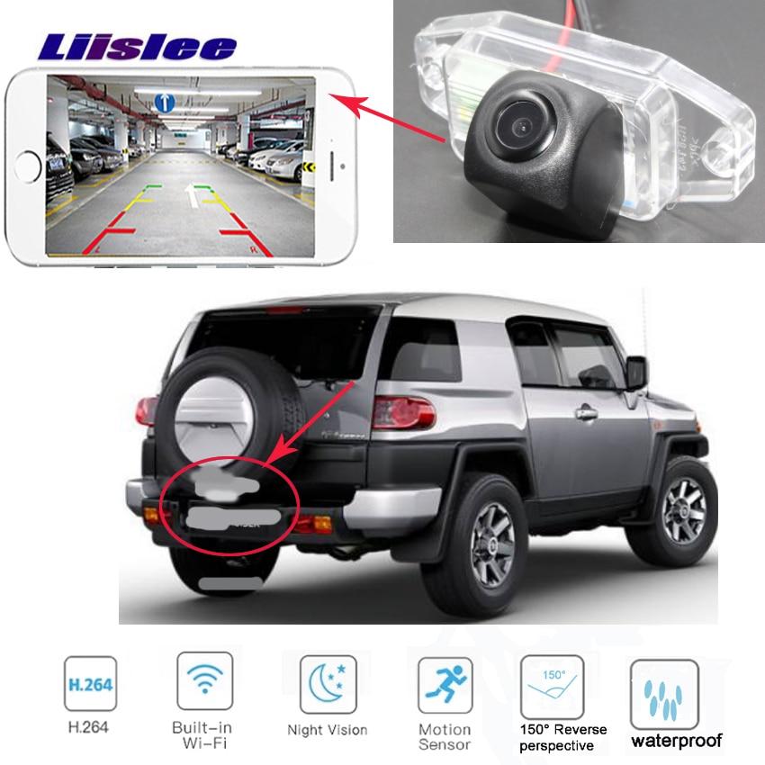 Cámara de coche LiisLee para toyota FJ Cruiser GSJ15W 2006 ~ 2017 Nuevo Producto cámara de visión trasera inalámbrica CCD visión nocturna