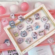 Badges en plastique   1 pièce, dessin animé, icônes de cochon rose mignon, Badges acrylique pour sac à dos, Badges vêtements Badge en plastique, Kawaii broche, Badge