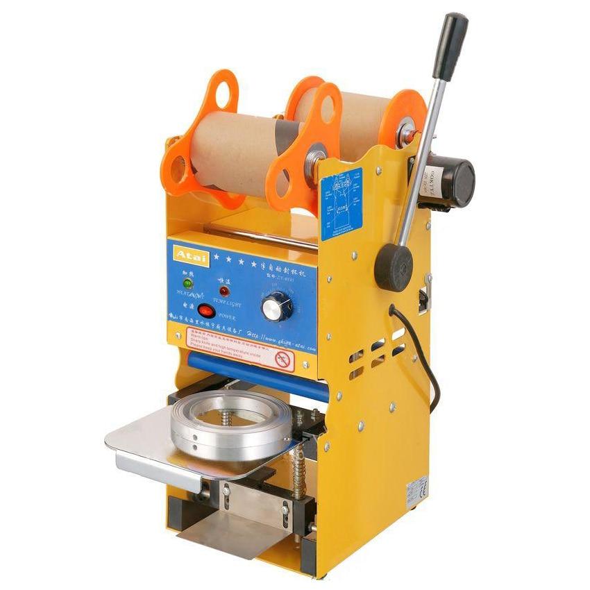 300-500cups/h Semi Automatic Boba Bubble Tea Cup Sealing Machine Plastic Sealer 95mm/75mm Sealing diameter optional