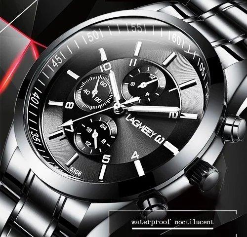 Männer Uhren Luxus Voller Stahl Uhr Masculino Relogio männer Sport Business Erkek Kol Saati Kleid Armbanduhr Chronograph Elegante