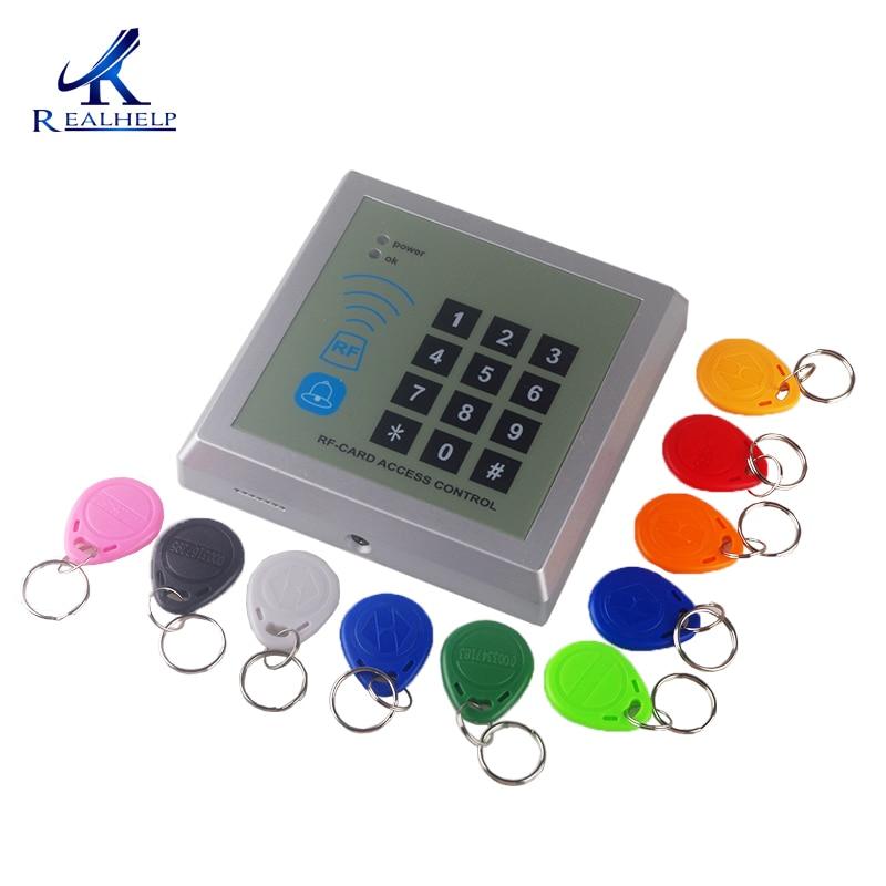 Control de Acceso de 10.000 usuarios tarjeta de identificación inteligente y lectores de proximidad RFID seguridad 125KHz 12V DC 3A