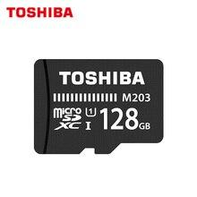 % 100% orijinal TOSHIBA M203 mikro SD kart 16GB 32GB SDHC yüksek hızlı 100 MB/S U1 64GB 128GB SDXC hafıza kartı UHS-I TF kart Microsd