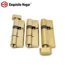 Serrure serrure de porte cylindre laiton   Matériel Double ouverture simple intérieur 70/75/80/85/90/95/100mm serrure clé étendue 3 pièces