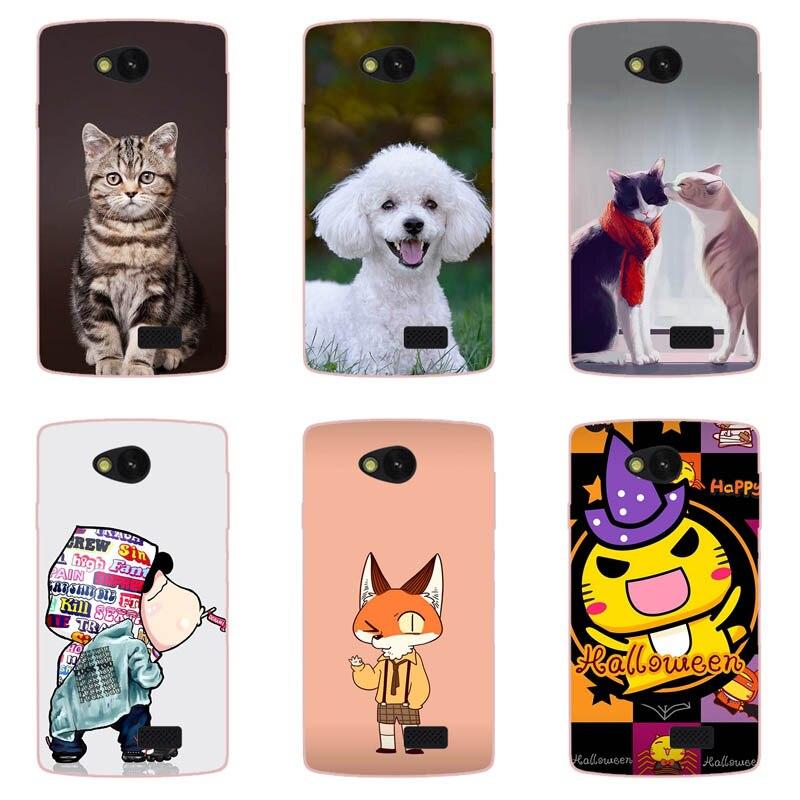 Funda de dibujos animados de moda para LG Optimus Dual D285 D280 D325 D320 L80 L90 F60, funda trasera con dibujo de gato