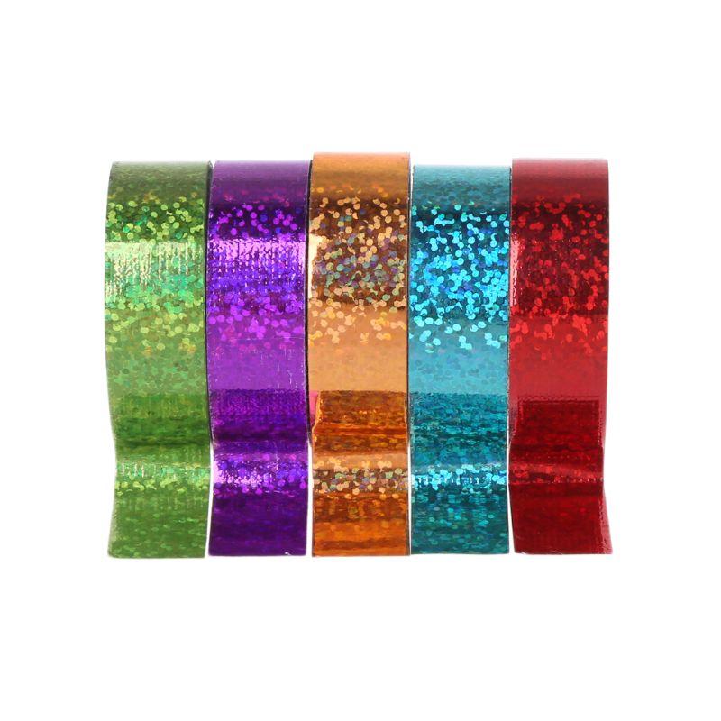 Cinta de Gimnasia rítmica para decoración, cintas prismáticas holográficas, Gimnasia, aros artísticos,...