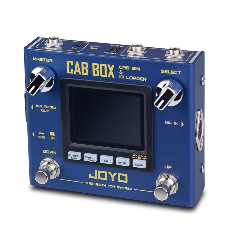 JOYO CAB BOX Guitar Multi Effects Pedal IR Box Simulation IR Loader Electric Guitar Effects Processor Stereo MIDI Devices enlarge
