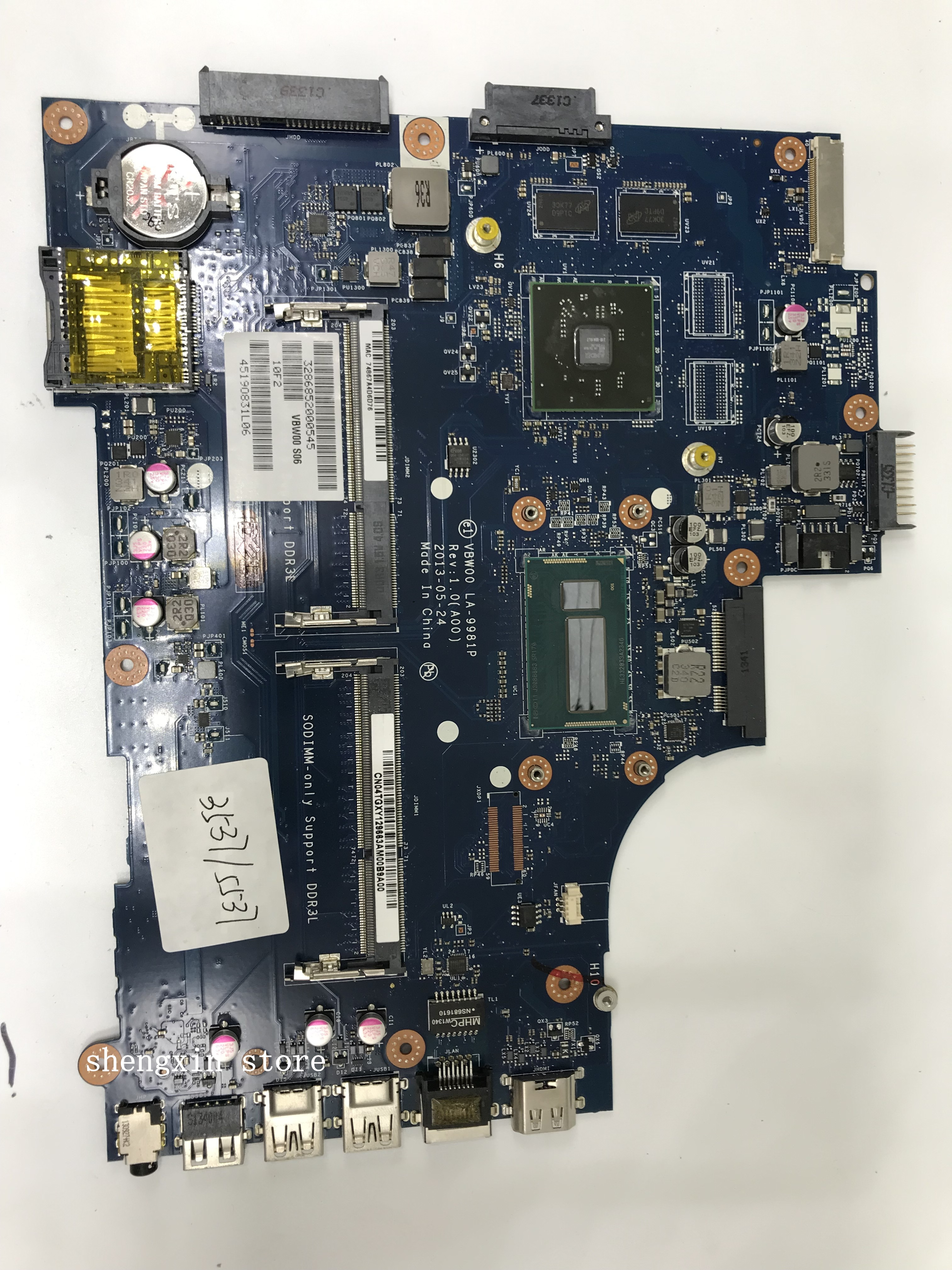 CN-04TGXY 4 VBW00 LA-9981P TGXY PARA DELL Inspiron 5537 3537 laptop motherboard REV 1.0 (A00) I5-4200U mainboard