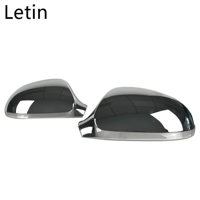 Letin Rear View Mirror Cover side mirror case Chrome Matt Cover For VW Passat B6 R36