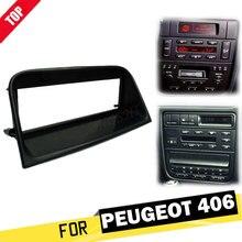 LONGSHI 1 Din Radyo Fasya Peugeot 406 için Stereo Paneli Dash CD Facia Ses Uydurma Adaptörü DVD Yüz Çerçeve Plaka montaj 1din