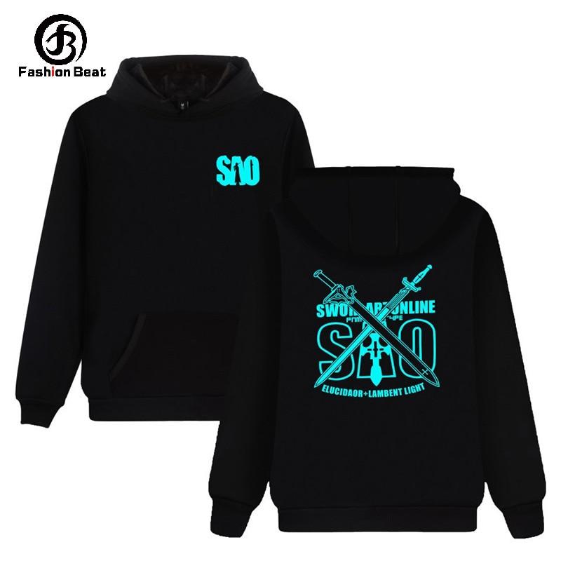 Schwert Art Online Hoodie Sao Japan Heißer Anime Hoodies Kirito Definator Dark Repulsor Hoody Schwarz Swordsman Sweatshirt Kleidung