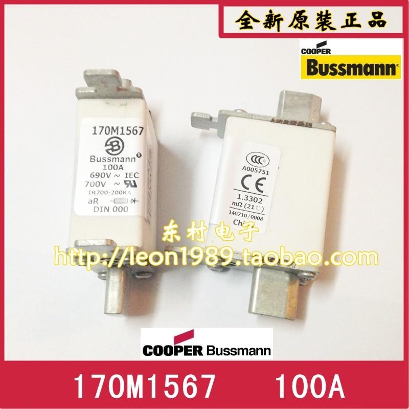 [SA]-fusibles Bussman 170M1567 170M1567D 100A 690V fusible -- 5 unids/lote