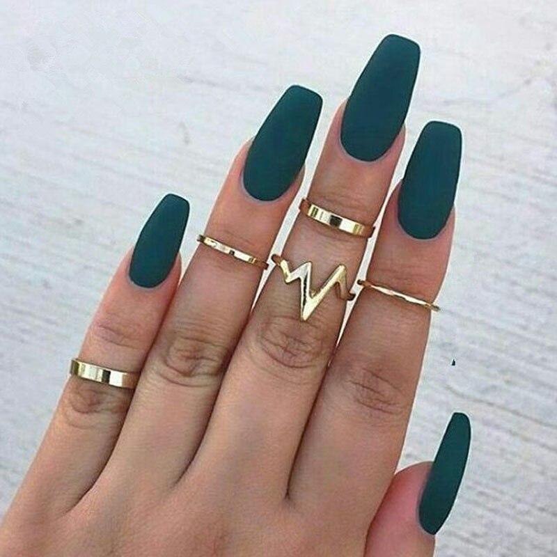 RONGBIN 5 шт./компл. набор колец на сустав пальца средней длины для женщин
