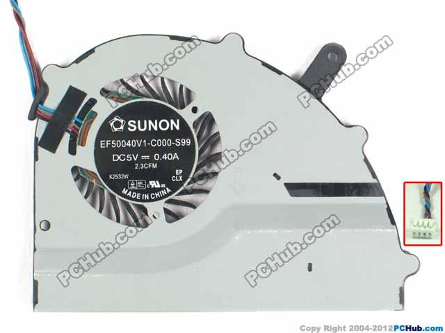 SUNON EF50040V1-C000-S99 Server Laptop Cooling Fan DC 5V 0.40A 4-wire