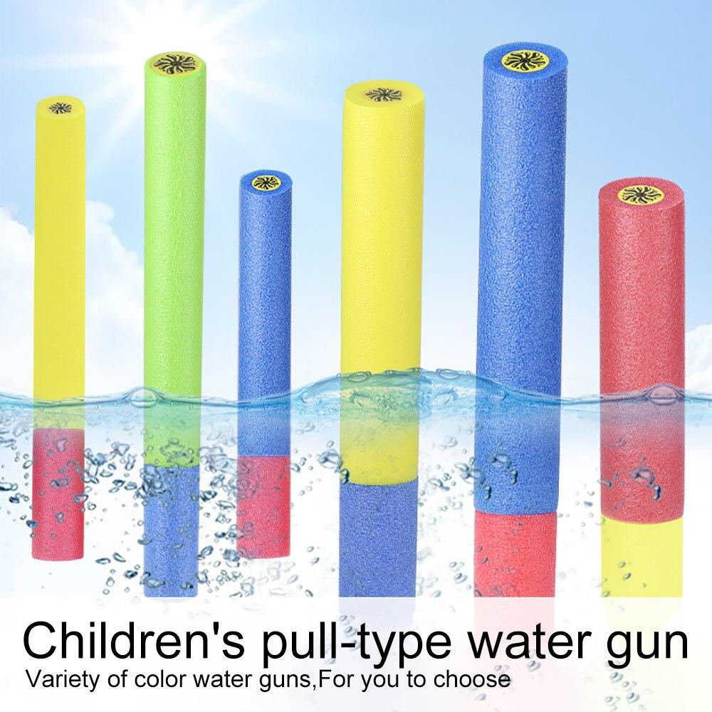 Crianças Verão Praia de Natação Brinquedos Pistola de Água Espuma/Shooter Super Canhão da Onda de Choque Absorver Água Brinquedo Arma Atirador