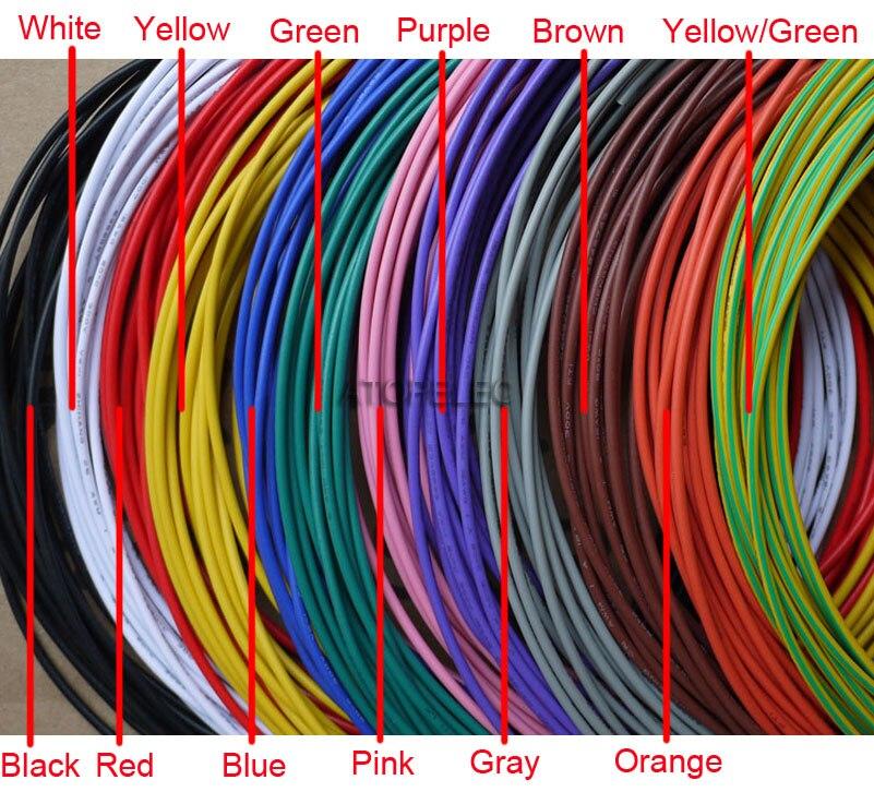 UL1007 PVC Tinned Copper Stranded Wire Cable Cord 300V 16AWG/18AWG/20AWG/22AWG/24AWG/26AWG/28AWG/30AWG Black/Brown/Red/Orange