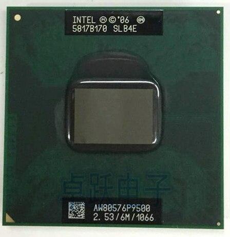 [해외] 인텔 코어 2 듀오 모바일 CPU P9500 듀얼 코어 2.53GHz 6M 1066MHz 소켓 p 노트북 노트북 프로세서 PM45 에서 작동