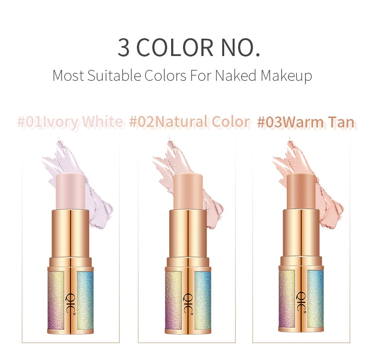 1 Uds 3 colores corrector Stick base maquillaje contorno corrector crema reparación varilla impermeable iluminador cosméticos TSLM1