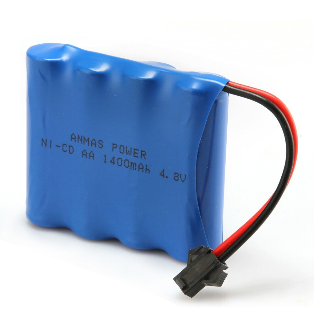 1 pack Anmas Power 1400mAh 4,8 V Ni Cd Batterie Wiederaufladbare AA Nicd Batterien Pilhas Recarregaveis SM Connector