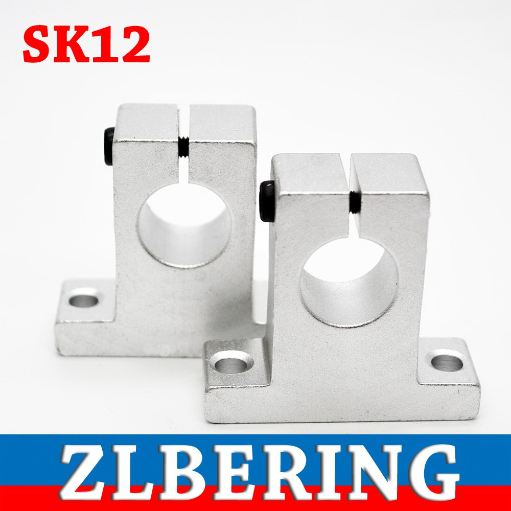 4PCS SK12 12mm Linear Rail Shaft Support Block For Cnc Linear Slide Bearing Guide Parts 2 pcs linear guide sbr16 1500mm linear rail and 4 pcs sbr16uu linear bearing blocks for cnc parts