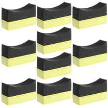 Car Professional Tyre Tire Dressing Applicator Curved Foam Sponge Pad