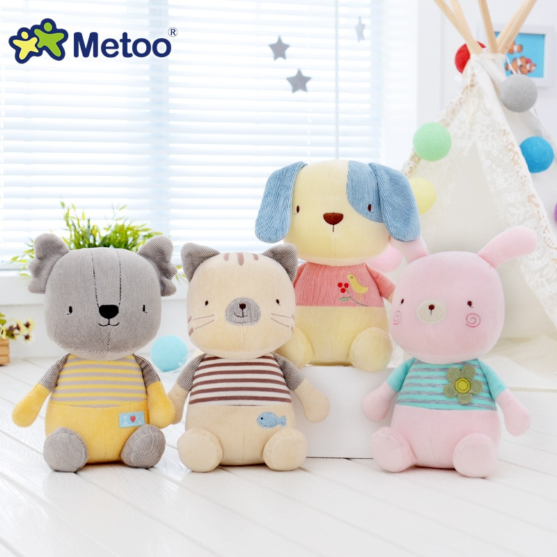 Metoo Doll Kawaii Cute Sweet Rabbit Soft Cartoon Animals Plush Stuffed Toys For Girls Baby Kid Children Christmas Birthday Gift