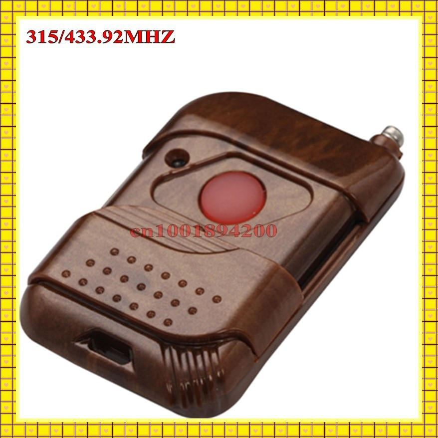 Transmisor de Control remoto de 315/433 MHZ Control remoto inalámbrico 2262 IC Botón de empuje botón grande para pedido adicional control remoto