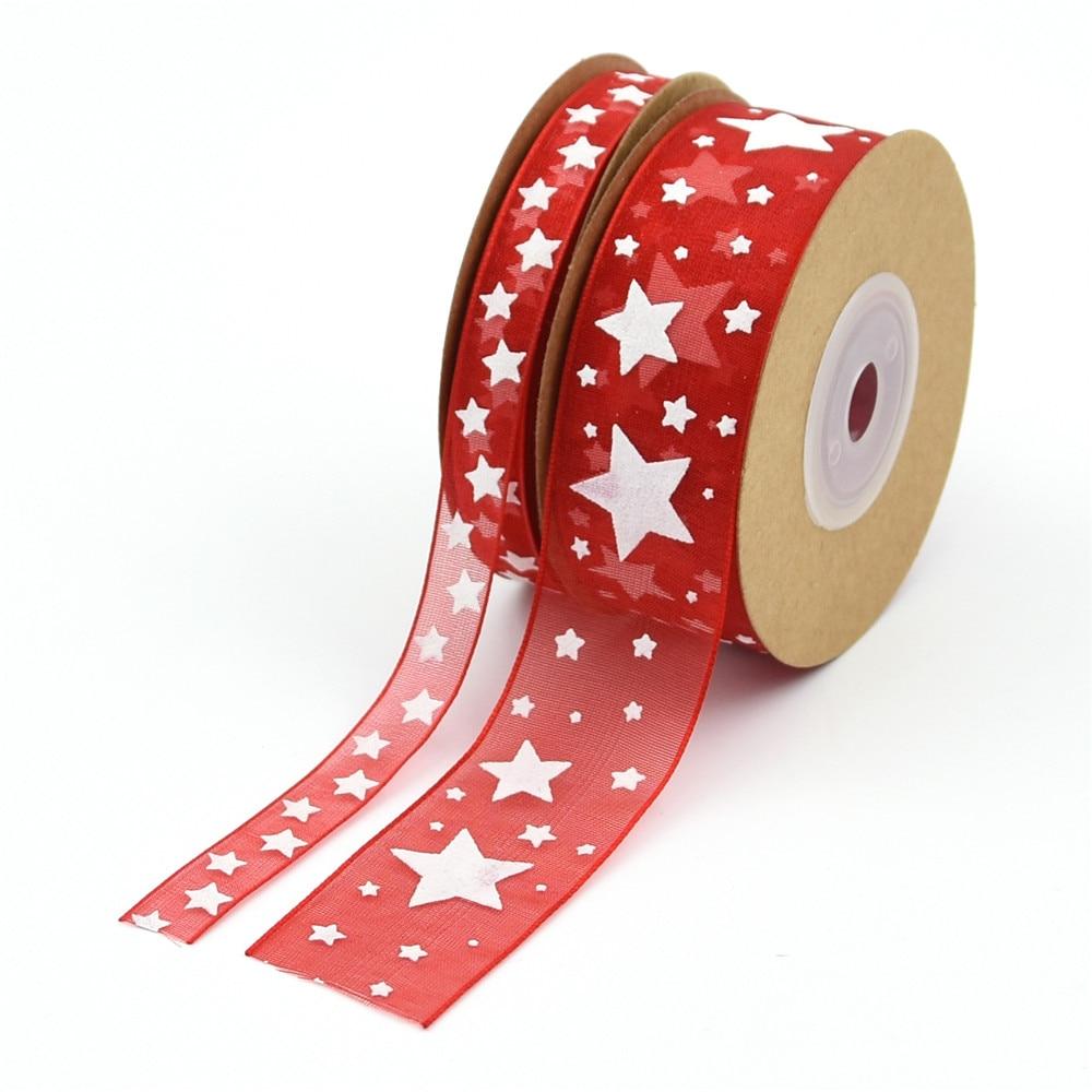 10 ヤード 15/25 ミリメートルのクリスマステープ針仕事クラフト Decarotions プリントリボン手芸 DIY 弓