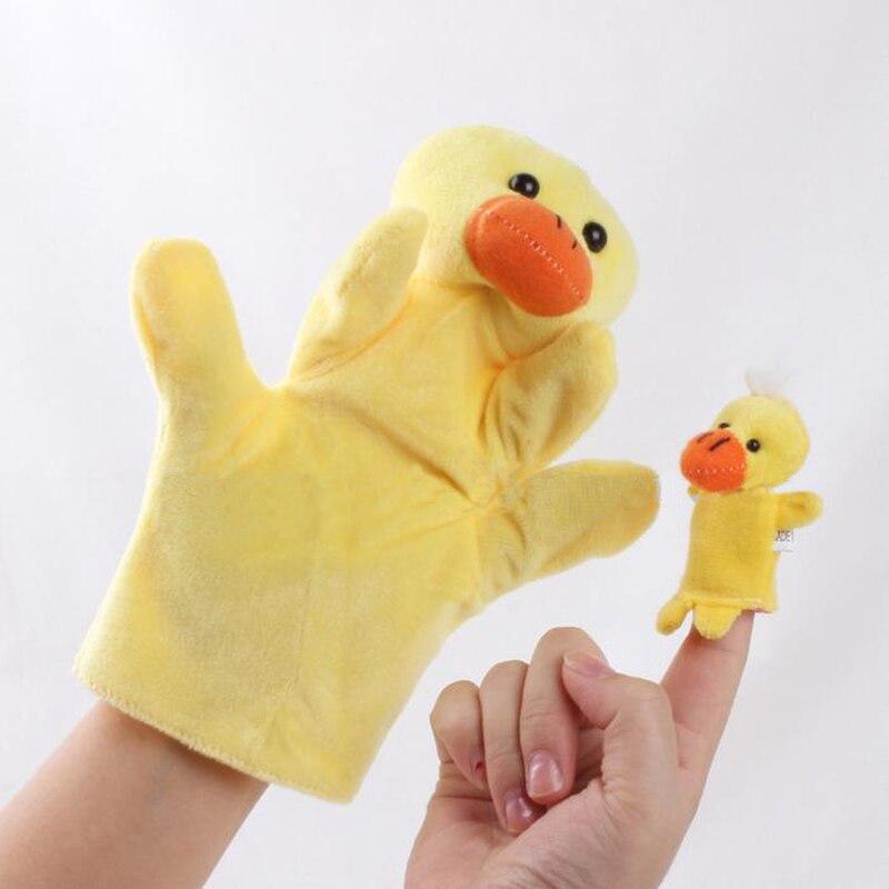Finger Puppen Dino Marionnette Bebe Sock Hand Glove Puppet Baby Child Zoo Farm Animal Hand Glove Puppet Finger Sack Plush Toys