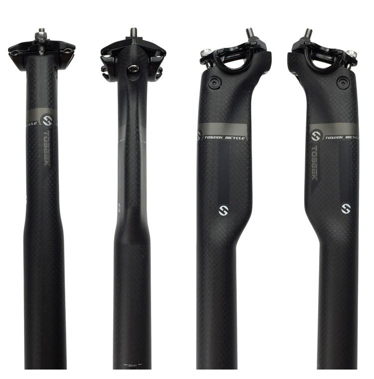 New TOSEEK 3K Matte Full Carbon Fiber Seatpost MTB Mountain Road Bike Cycling Seat Post Bicycle Parts 27.2/30.8/31.6*350/400MM