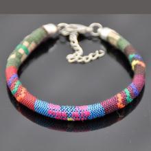 LEMOER 2019 Vintage bohème fait à la main multicolore tricoté ruban Bracelets ethnique pulseira pour femmes hommes bracelet bijoux
