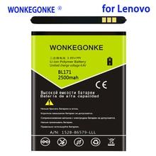 WONKEGONKE 2500mah BL171 Batterie pour Lenovo A356 A368 A390 A390T A376 A370E A500 A60 A65 A319 Batteries Bateria