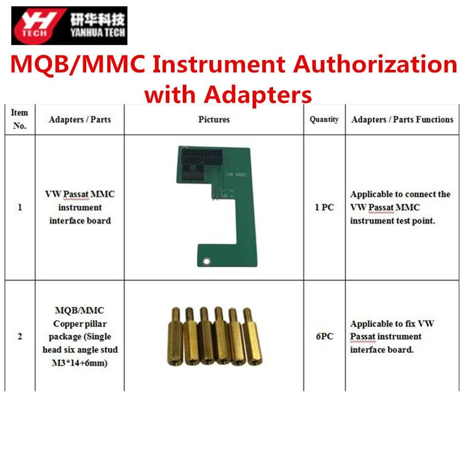 Yanhua Mini ACDP programador maestro MQB/MMC instrumento/actualización para BMW llaves/para BMW FRM autorización con adaptadores