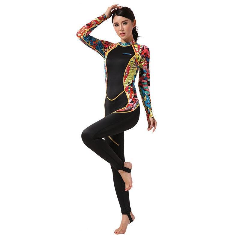 Женский комбинезон из лайкры Hisea seac, цельный купальный костюм для серфинга, с капюшоном, для дайвинга