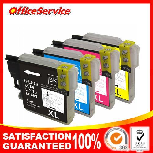 4X cartucho de tinta Compatible LC39 LC60 LC975 LC985 hermano DCP-J125 J315W J515W 140W MFC-J265W J410 J415W J220 impresora