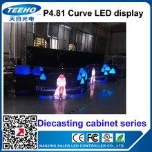 Kaler haute P4.81 écran LED extérieur courbe videowall moulage sous pression armoire affichage location publicité mariage hôtel stade