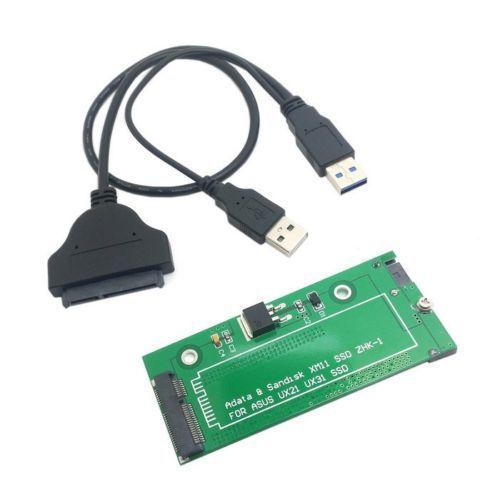"""Cablecc detalles sobre SATA adaptador USB 3,0 Cable para ASUS EP121 UX21 UX31 SANDISK ADATA XM11 SSD 2,5"""""""