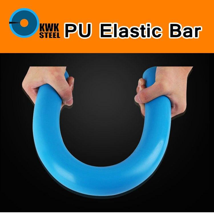 Barra elástica de PU, barra redonda de PU, goma, molde Flexible de poliuretano, relleno de Junta de sellado, palo redondo, Color azul