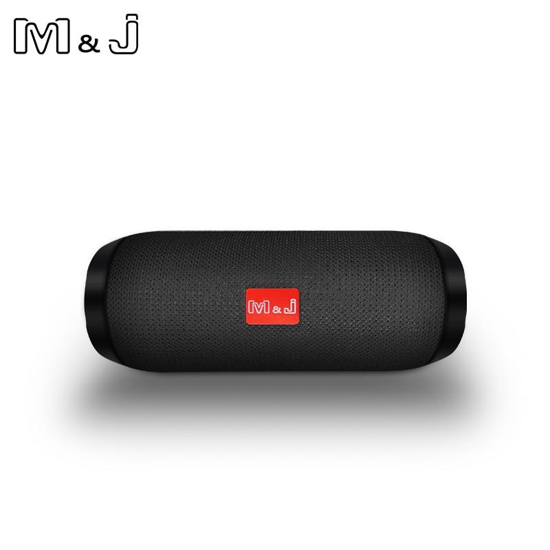 Mini altavoz inalámbrico vibrador para columna de altavoz Bluetooth al aire libre portátil M & J, altavoces resistentes al agua de alta potencia con Radio Fm