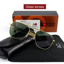 Pilot AO Sun Glasses Men Brand Designer American Army Military Glass Lens Male Sunglasses OP55 OP57
