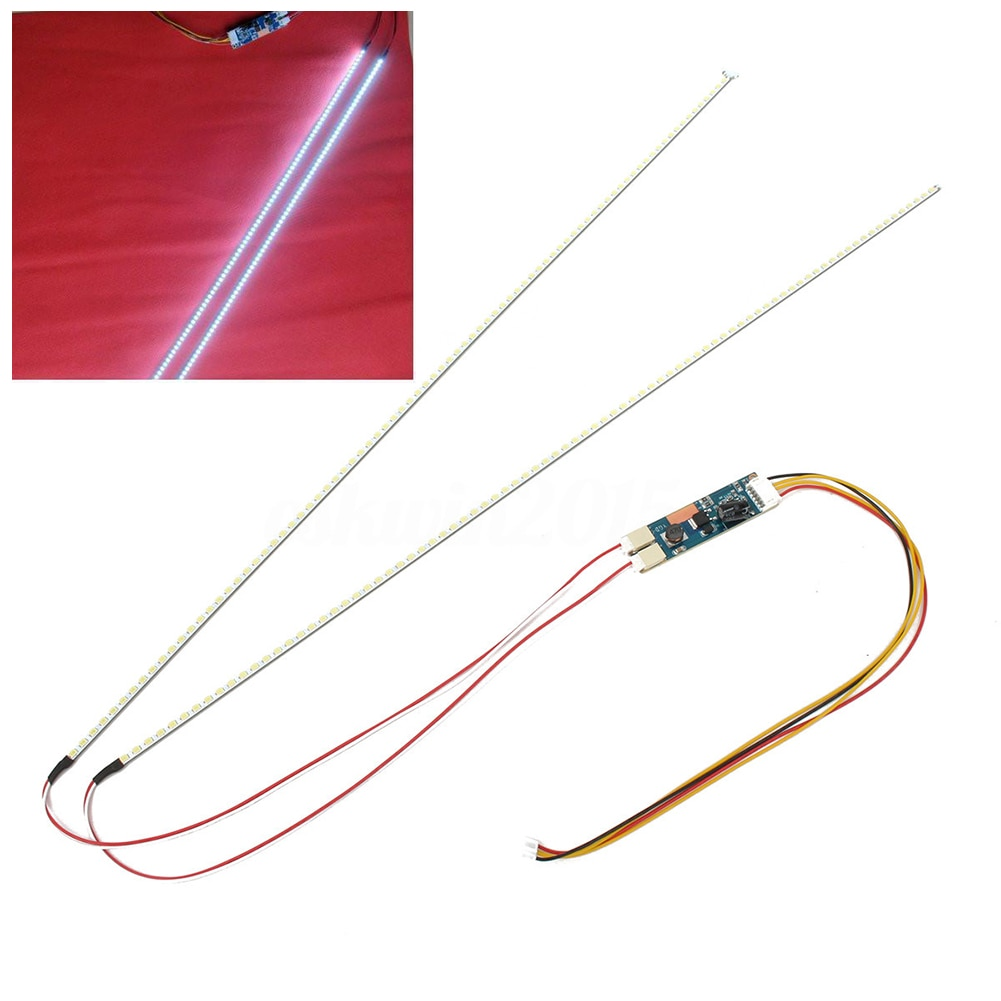 22 pulgadas 490mm 2 tira de LED para iluminación trasera Kit LED tira de luz actualizar la pantalla CCFL LCD para Monitor