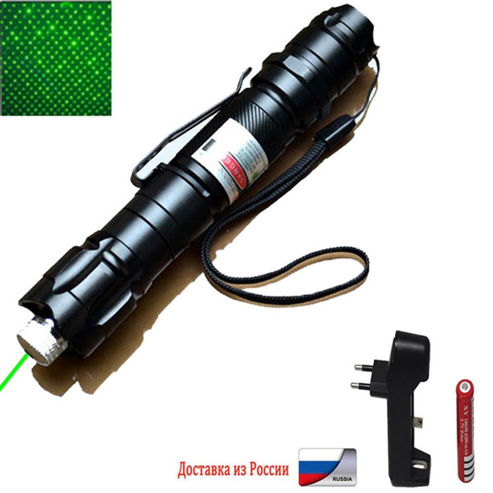 Láser verde de alta potencia 303 puntero 10000m 5mW tipo colgante distancia exterior de larga distancia vista láser potente cabeza estrellada
