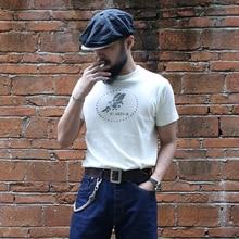 Bronson WW2 USN Seabees T-Shirts Solid Slub Cotton Tee Crew Neck Mens Sportwear