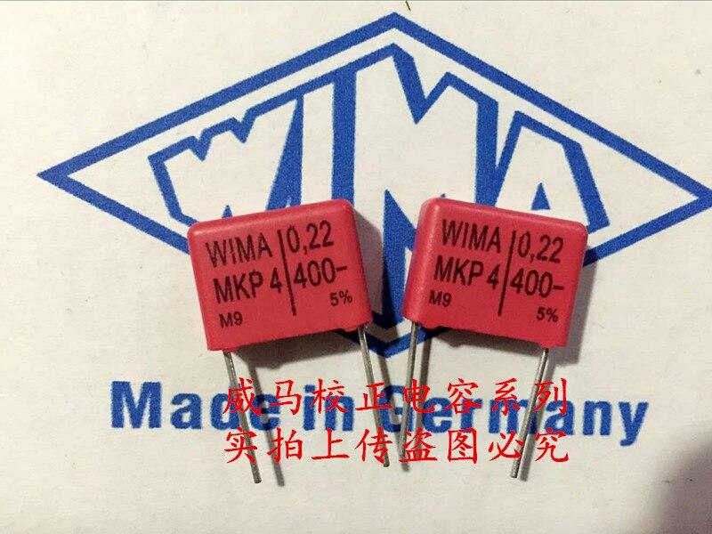 2020 gran oferta 10 uds/20 piezas Uds Alemania WIMA MKP4 400V 0,22 UF 400V 224 P 15mm condensador de Audio envío gratis