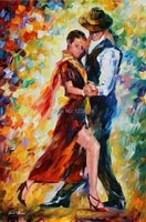 professional dancing loverartist handmade canvas painting on canvas rich colors canvas poster painting for living room