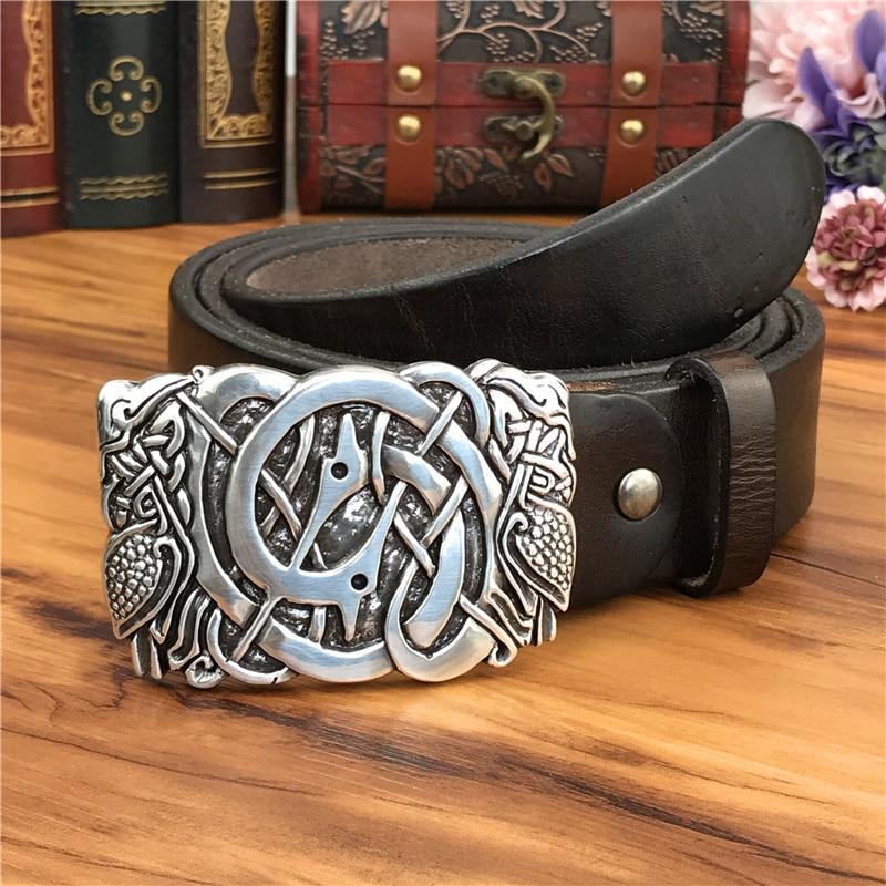حزام جلد أصلي مع مشبك معدني للرجال ، حزام فاخر مع مشبك معدني ، MBT0589