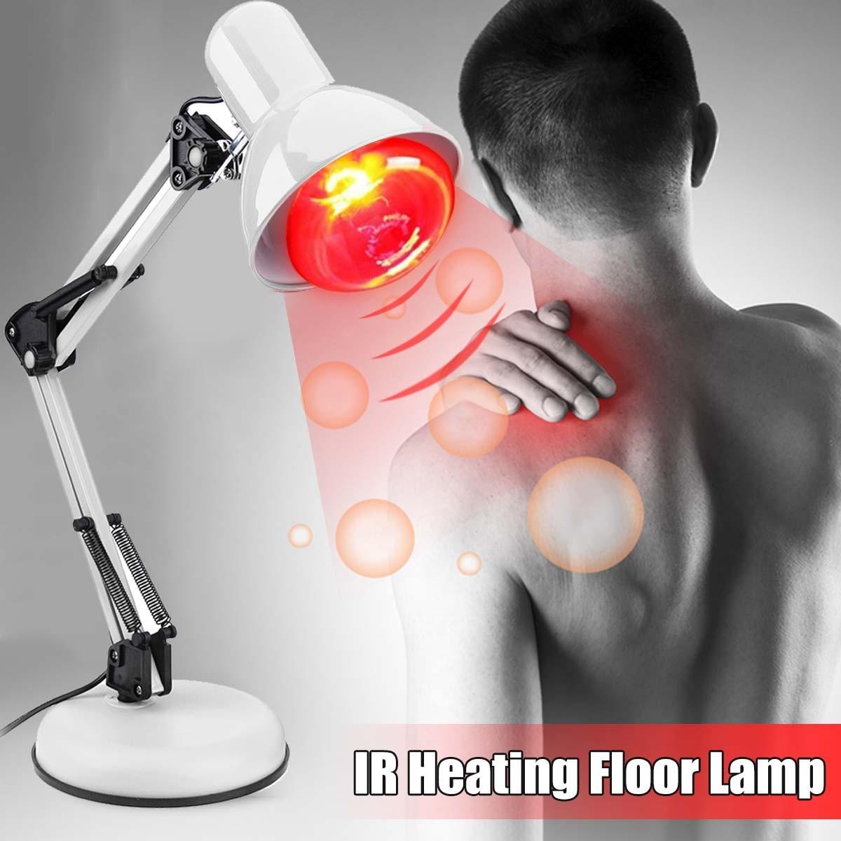 Soporte de suelo masaje TDP terapia infrarroja lámpara de calor salud alivio del dolor fisioterapia 100W cuidado de la salud luz infrarroja eléctrica