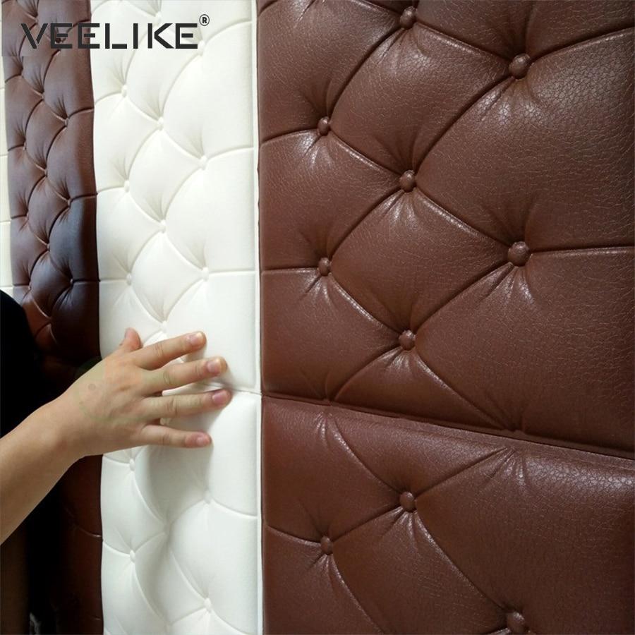 Espuma de PE de 3D de pared de habitación de los niños pegatinas de seguridad casa Decoración Adhesivo de papel tapiz DIY habitación pared del dormitorio decoración de pared calcomanías